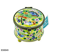 ES0045 Kelvin Chen Butterflies and Flowers Stamp Box