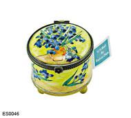 ES0046 Kelvin Chen Vincent Van Gogh Iris Vase Stamp Box