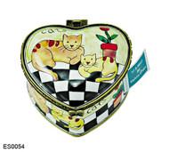 ES0054 Kelvin Chen Cats & Flowerpot Stamp Box