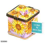 ES0060 Kelvin Chen Sunflowers Stamp Box