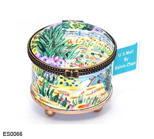 ES0066 Kelvin Chen Monet Water Lily Stamp Box