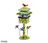 ET4402 Kelvin Chen Dots and Checkers Hinged Birdhouse