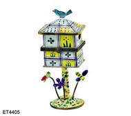 ET4405 Kelvin Chen Floral Hinged Birdhouse