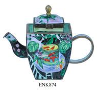 ENK874 Kelvin Chen Henri Matisse The Goldfish Enamel Hinged Teapot