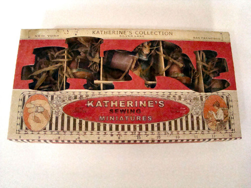 Katherine's Collection Boxed Set of 6 Sewing Miniatures Hinged Box Ornaments