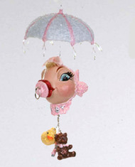 Katherine's Collection Baby Shower Dangling Kissing Fish Pink