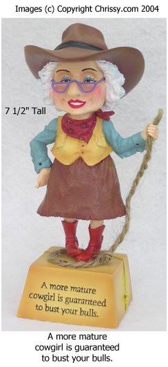 Westland Cowgirl Bobble Figurine Biddy