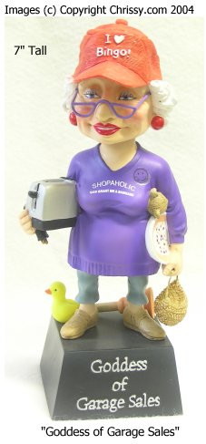 Westland Garage Sale Goddess Bobble Figurine Biddy