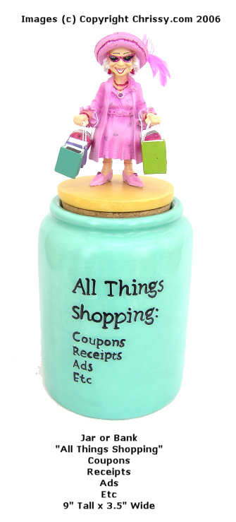 Westland All Things Shopping Jar Bank