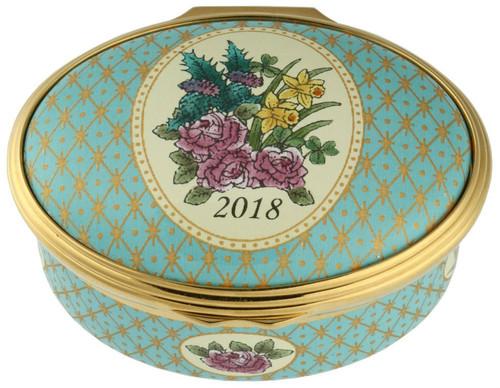 Halcyon Days Enamel Box 2018 Annual Year Box ENYB180102G