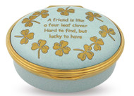 Halcyon Days Enamel Box Four Leaf Clover Friend ENFLC0902G