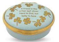 Halcyon Days Enamel Box Four Leaf Clover Friend ENFLC0902G