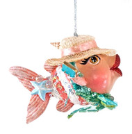 Katherine's Collection Beach Kissing Fish in Pink Ribbon Hat