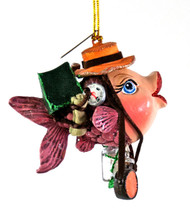 Katherine's Collection Camping Kissing Fish in Orange Hat
