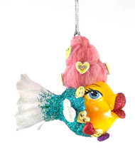 Katherine's Collection Emoji Kissing Fish in Red Hair
