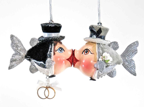 Katherine's Collection Groom & Groom Magnetic Kissing Fish