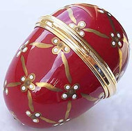 Staffordshire Red & Gold Egg