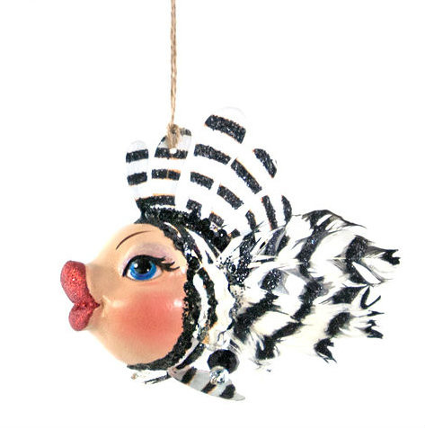 Katherine's Collection Zebra Striped Kissing Fish 28-828150