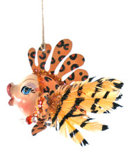 Katherine's Collection Leopard Striped Kissing Fish 28-828150