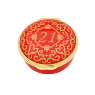 21 CLASSIC NUMBER BOX RED & GOLD ENCL210601G