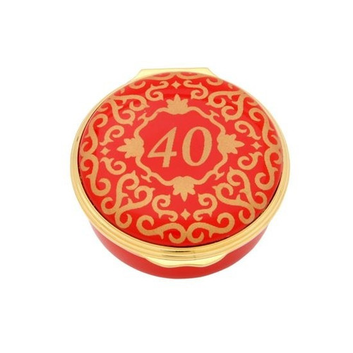 40 CLASSIC NUMBER BOX RED & GOLD ENCL400601G