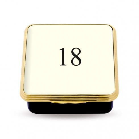 18 Contemporary Number Deep Base Box Ivory ENCN180258G