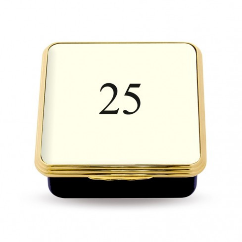 25 Contemporary Number Deep Base Box Ivory ENCN250258G