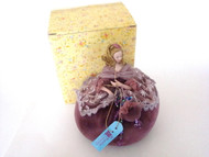 Plum Romance Half Doll Pin Cushion Doll (0041DI)