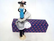 Blue Black Tassels Black Hat Tassel Doll TD292