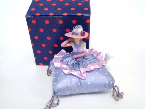 Pink Hat Lady Pin Cushion Doll #DI2290