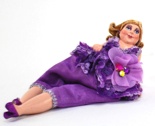 Katherine's Collection Happy Hour Bean Bag Doll Marta Tina (28-530382Purple)