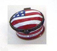 Kelvin Chen USA Flag Miniature Enamel Hinged Box EH521 (EH521)
