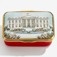 Halcyon Days The White House In The Snow ENWIN0623G