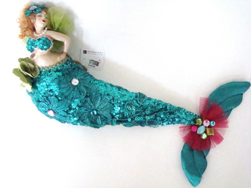 Katherine's Collection Mermaid Bean Bag Doll Turquoise (28-30212Turquoise)