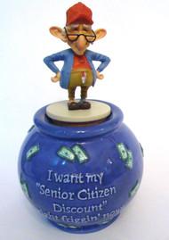 Bobble Coot I Want My Senior Discount Jar (12715)