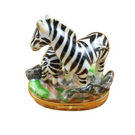 Rochard ZEBRA AND BABY Limoges BoxRA324-J