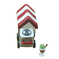 Rochard ICE CREAM CART WITH REMOVABLE ICE CREAM CUP AND SPOON Limoges Box RK215-J