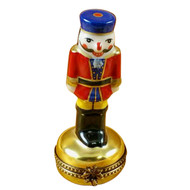 Rochard NUTCRACKER ON GOLD BASE Limoges Box RX118-H