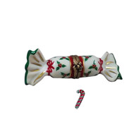 Rochard CHRISTMAS CRACKER W/ CANDYCANE Limoges Box RX216-I