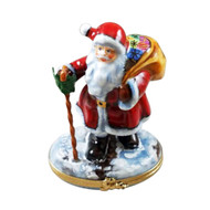 Rochard SANTA CLAUS WITH CANE Limoges Box RX220-L