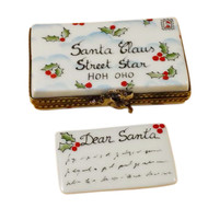 Rochard Letter To Santa Limoges Box RX160-H