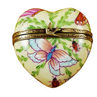 Rochard BUTTERFLY HEART Limoges Box RH150-I