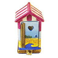 Limoges Imports BEACH CHANGING HUT Limoges Box TT770-J