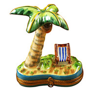 Limoges Imports PALM TREE W/CHAIR Limoges Box TT930-I