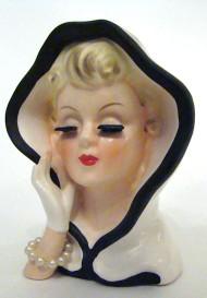 Vintage Lady Head Vase 1961 Inarco E-240