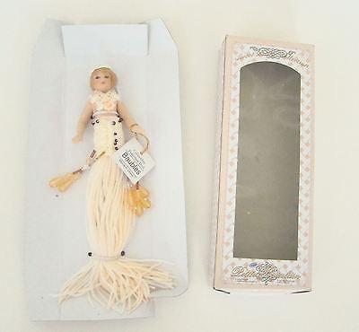 Sweet Petite Little Girl with Short Blonde Hair Tassel Doll