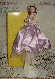 Flower Girl in Lavender Tassel Doll