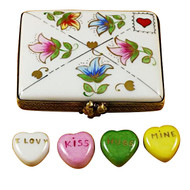 Envelope W/Conversation Hearts Rochard Limoges Box