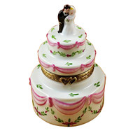 Wedding Cake W/Bride & Groom Rochard Limoges Box
