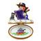 Witch W/Book Rochard Limoges Box